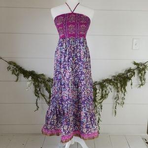 Anthropologie Maeve Floral Smocked Maxi Dress